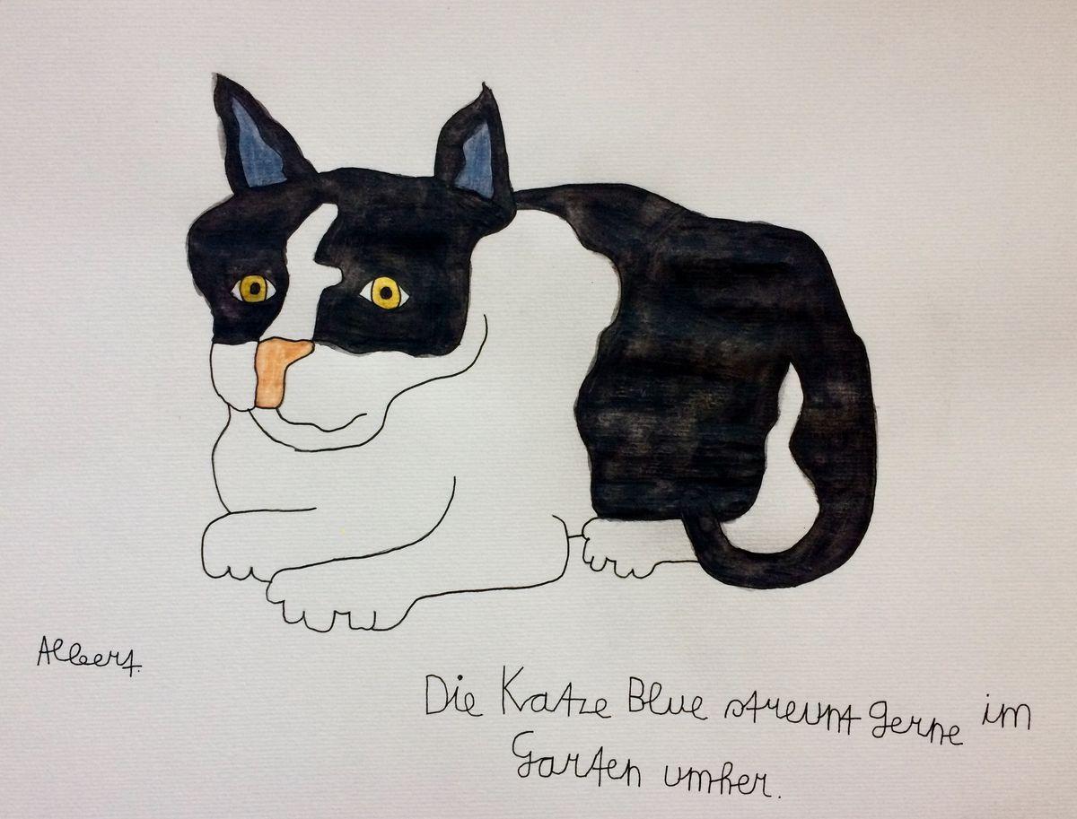 Katze_Blue