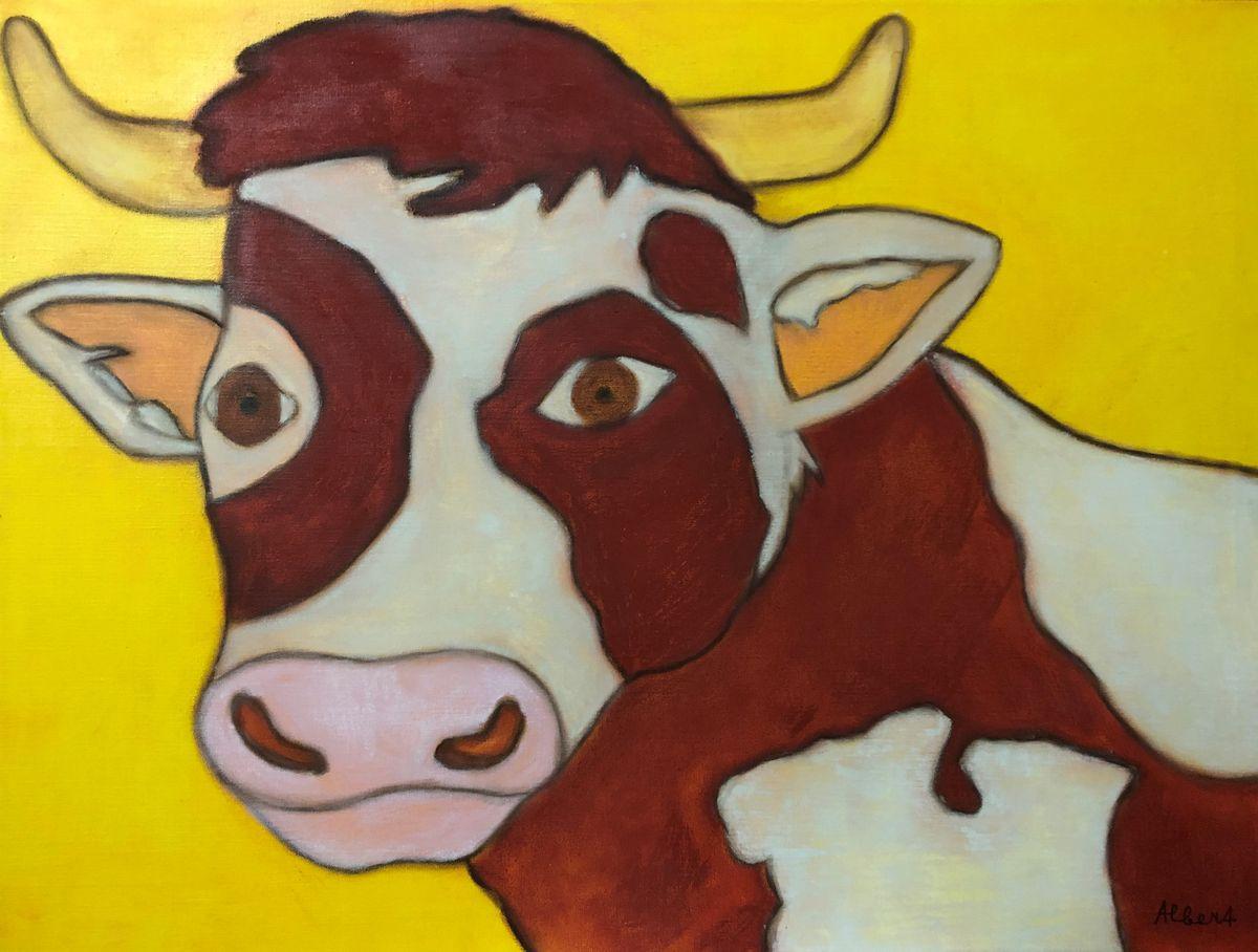 Kuh auf Leinwand_ergebnis